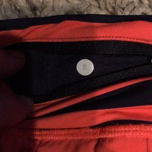 lululemon athletica Shorts - Lulu orange and blue tennis skirt